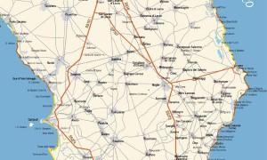 Mappa per raggiungere il Salento