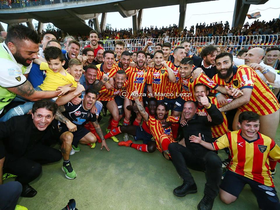 il Lecce torna in serie B, dopo 6 anni di sofferenza nell'inferno della serie C