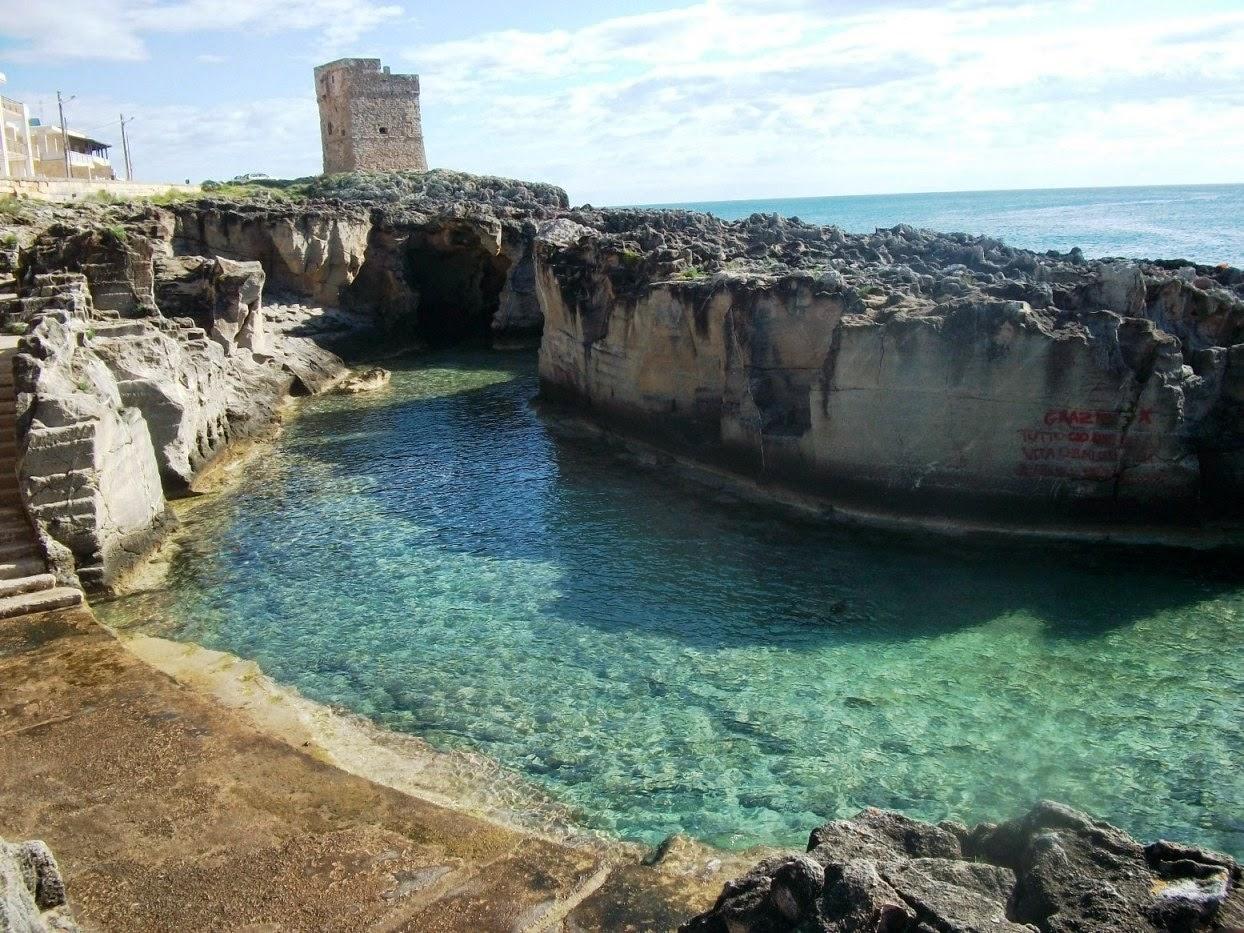 La piscina naturale di Marina Serra, a Tricase nel Salento