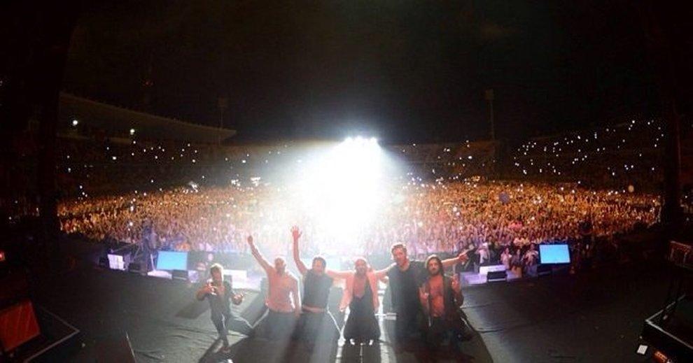 il concerto dei Negramaro a Lecce allo stadio Via del Mare - luglio 2018