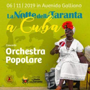 Cuba 6 novembre 2019 - la pizzica nella grande festa per i 500 anni dalla nascita della città de L'Avana
