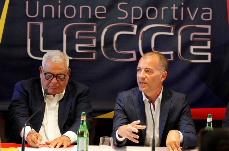 il Presidente Saverio Sticchi Damiani presenta Pantaleo Corvino, nuovo Direttore sportivo del Lecce calcio