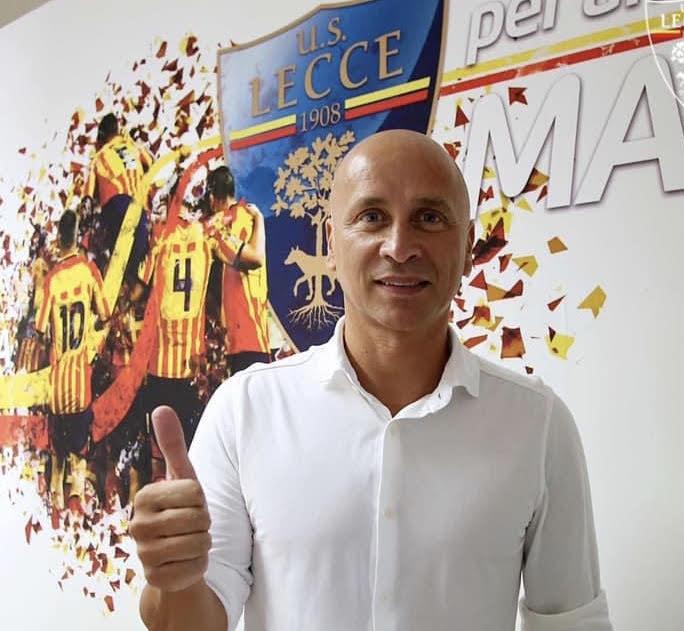 Eugenio Corini allenatore del Lecce, in serie B per la stagione 2020 - 2021