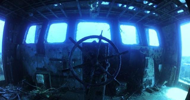 """il relitto della nave """"Tevfik Kaptan I"""" affondata al largo delle coste di Torre Vado"""