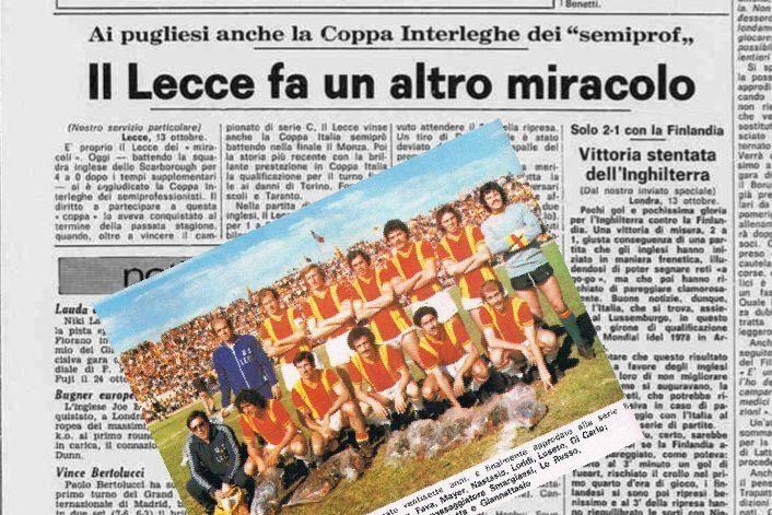 La vittoria del Lecce nella coppa italo inglese (13 ottobre 1976)