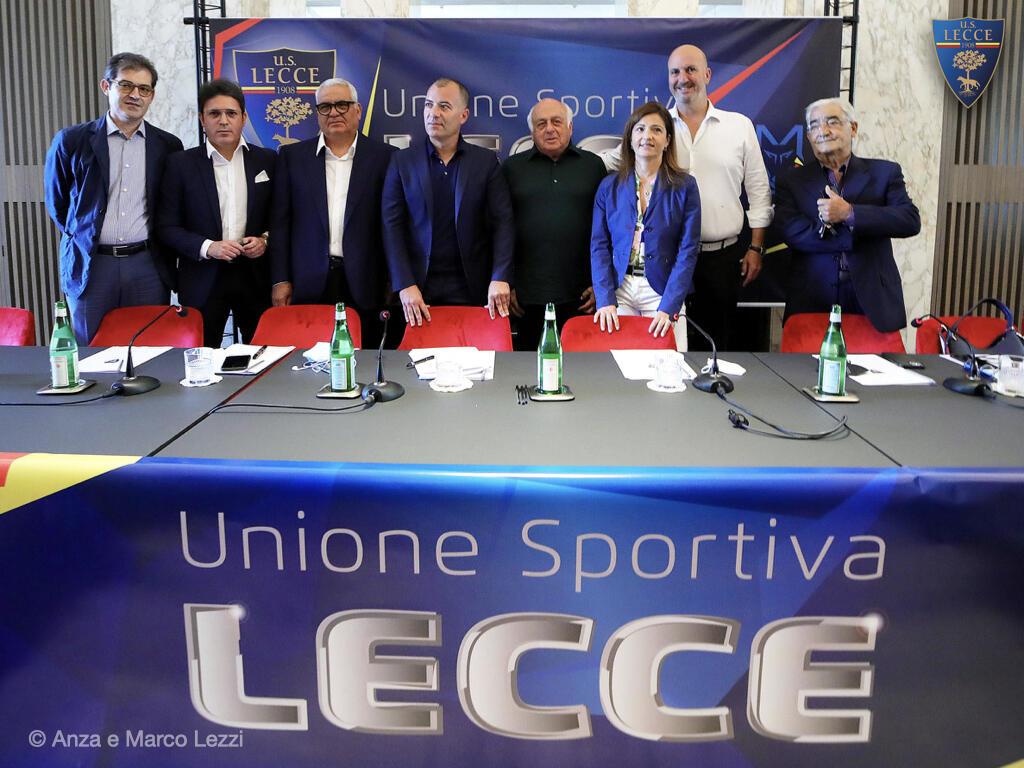 U.S. Lecce: conferenza stampa della società per la stagione 2021-2022