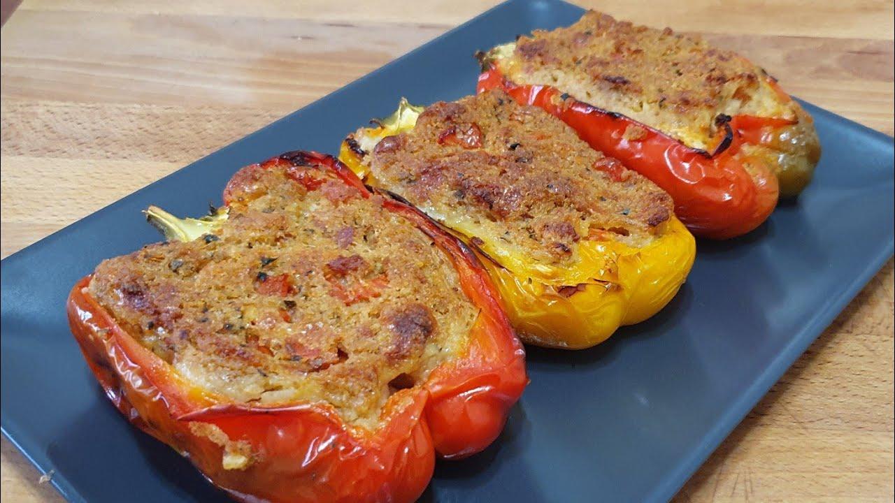 la ricetta dei peperoni ripieni in Salento